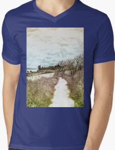 Coastal path at Crail in Fife, Scotland [Colour version] Mens V-Neck T-Shirt