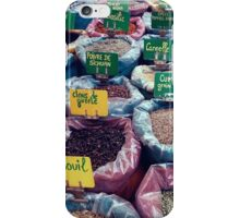 Spices at the French Market iPhone Case/Skin