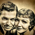 Clarc Gable & Claudette Colbert by © Kira Bodensted