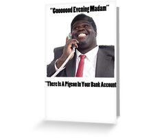 BANK ACCOUNT DETAILS - GEORGE Greeting Card