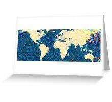 maps pointilism World Map 2 Greeting Card