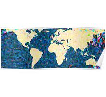 maps pointilism World Map 2 Poster