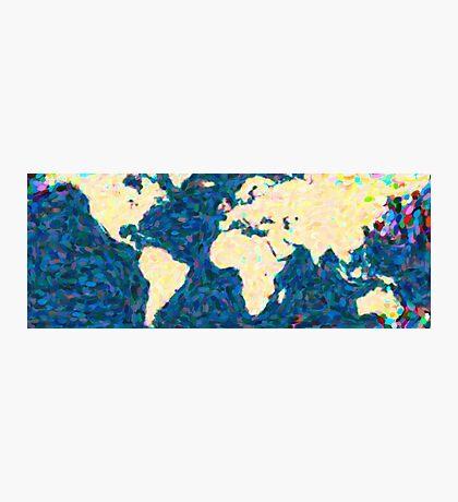 maps pointilism World Map 2 Photographic Print