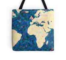 maps pointilism World Map 2 Tote Bag