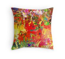 Abstract pen drawing late 1990s Throw Pillow