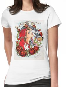 Red and the Wolf Womens Fitted T-Shirt