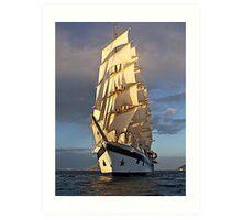 O' Beauteous ship! Art Print
