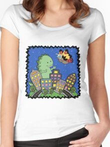 Monstrous Friendship  Women's Fitted Scoop T-Shirt