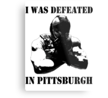 I Was Defeated, Bane: Grayscale Metal Print