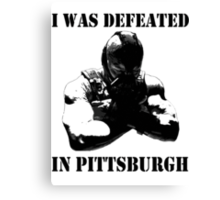 I Was Defeated, Bane: Grayscale Canvas Print