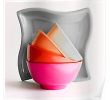 Pink Bowl (Selective Coloring) Poster
