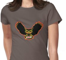 Pow Owl  Womens Fitted T-Shirt