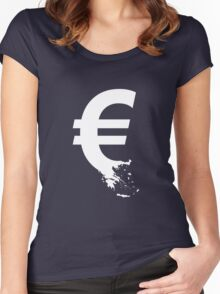 Universal Unbranding - The Greek Collapse Women's Fitted Scoop T-Shirt