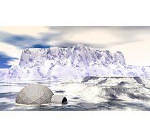 Rogue Igloo On A Fantasy Glacier Photographic Print