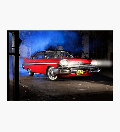 """""""Christine"""", the Plymouth Fury from the movie of John Carpenter Photographic Print"""