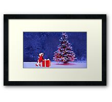 baby christmas Framed Print