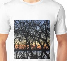 SUNSET TREES Unisex T-Shirt