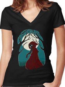 Red Riding Hood 2 Women's Fitted V-Neck T-Shirt