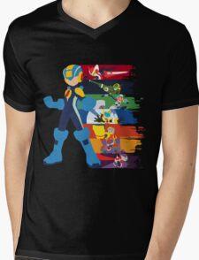 Megaman: Souls of a Hero V2 Minimal Mens V-Neck T-Shirt