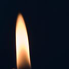 Candle flame by Norma Cornes