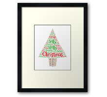 Happy Holly Jolly Christmas Therapy Framed Print