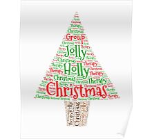 Happy Holly Jolly Christmas Therapy Poster