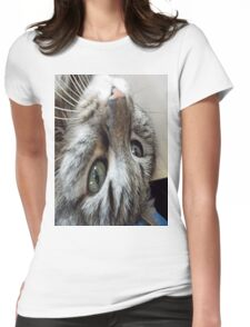 Baby Cat Montes Upside Down Womens Fitted T-Shirt