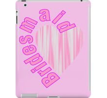 Cute pink heart bachelorette party bridesmaid  iPad Case/Skin