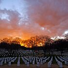 Arlington National Cemetery - Sunset by Stephen Beattie