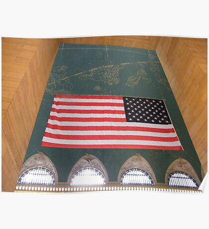 Flag and Constellation, Grand Central Terminal, New York City Poster