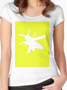 Wasp silhouette Women's Fitted Scoop T-Shirt