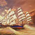 Cutty Sark in Heavy Seas by Dennis Melling