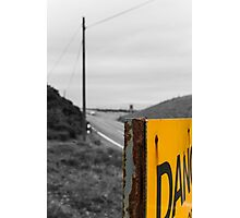 Abstract Danger! Photographic Print
