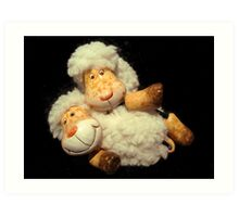 Happy Sheeps Art Print