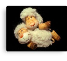 Happy Sheeps Canvas Print