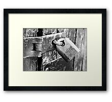 That Trusty Old Lock Framed Print