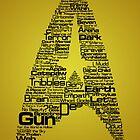 Star Trek The Original Series typography (yellow) by renduh