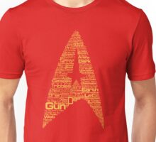 Star Trek The Original Series typography (red) Unisex T-Shirt