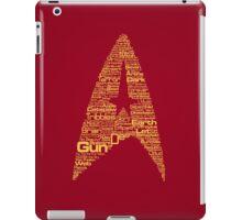 Star Trek The Original Series typography (red) iPad Case/Skin