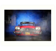 """""""Christine"""", the Plymouth Fury from the movie of John Carpenter Art Print"""