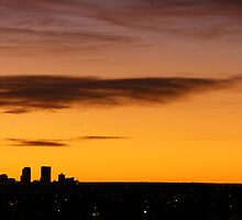 Denver Skyline.  by Zedidiah Sterner