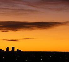 Denver Skyline.  by Zedidiah Sterner