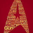 Star Trek The Original Series typography (red) by renduh
