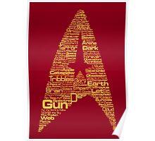 Star Trek The Original Series typography (red) Poster