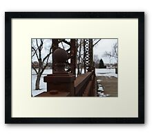 Sioux Falls Bridge Posts Framed Print