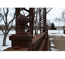 Sioux Falls Bridge Posts Photographic Print