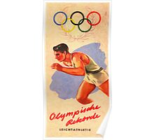 Posters  1952 Helsinki Finland Olympic Games Pamphlet  Enhanced re production Poster