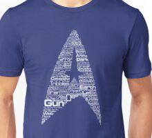 Star Trek The Original Series typography (blue) Unisex T-Shirt
