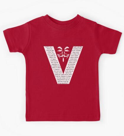 V (white) Kids Tee