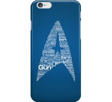 Star Trek The Original Series typography (blue) iPhone Case/Skin